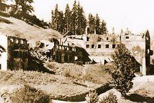 WW2 - Le chalet d'Hitler, le Berghof, après le bombardement de la RAF en 1945