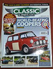 Classic & Sportscar January 2009 Mini at 50 years, Turcat-Mery, Ghibli, Khamsin