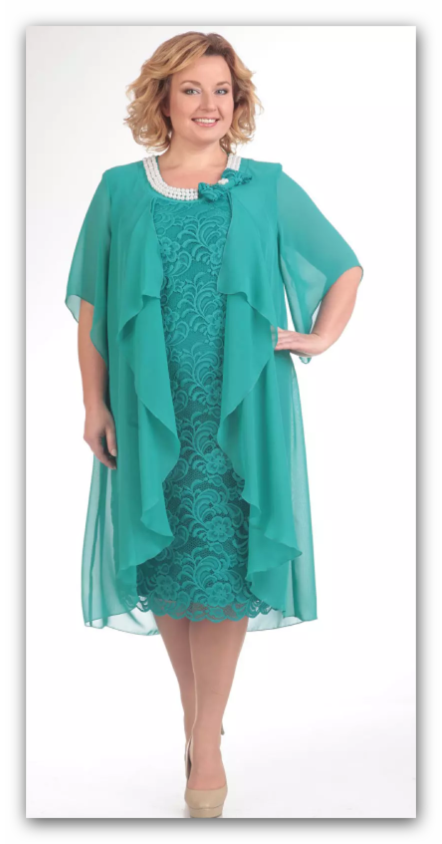 Abendkleid Big Größe 52,54,56,58. Farbe Türkis