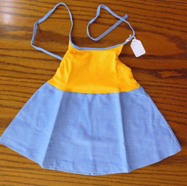 Girls summer sun dress Age 1-2 years UNUSED vintage 1970s Ladybird halter neck
