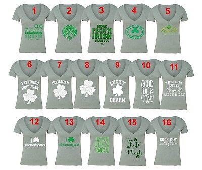 Green Bay City Shamrock Womens Cotton T-Shirt
