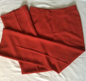 580ed14aff9 Image is loading Burberry-womens-red-pants-size-42