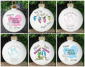 image is loading personalised christmas tree sentimental bauble decoration keepsake for