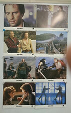 Highlander (1986) Connery Lambert Lobby Card Front Of House Cards Set of 8 Rare
