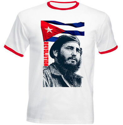 Fidel Castro Cigar  Cuba  Revolution Red Basic Men/'s T-Shirt