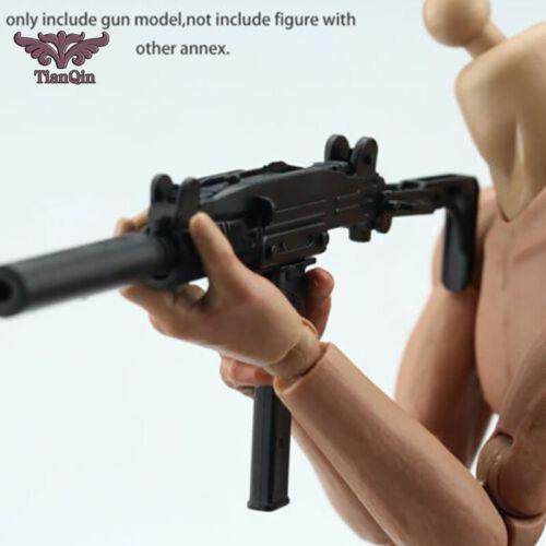 1//6 Scale UZI Pistol Submachine Gun Israel Army Mini Toys Model Action Figure