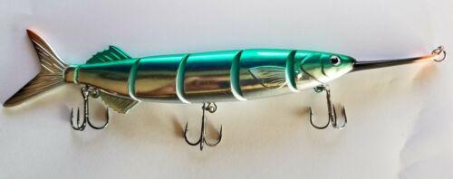 "12/"" Ballyhoo Swimbait Fishing Lure by Short Fuse Lures Lifelike Swim Action"