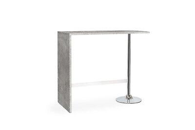 GroßZüGig Stehtisch Bartisch - Static - Partytisch Tisch In Betonoptik Chromgestell