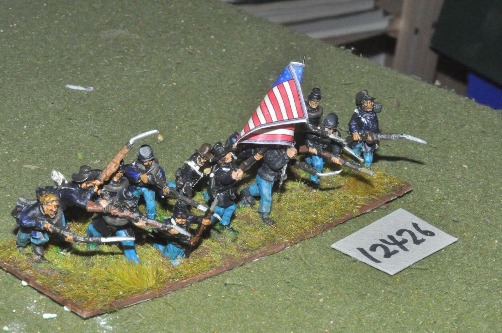 25mm ACW   union - american civil war infantry 15 figures - inf (12426)