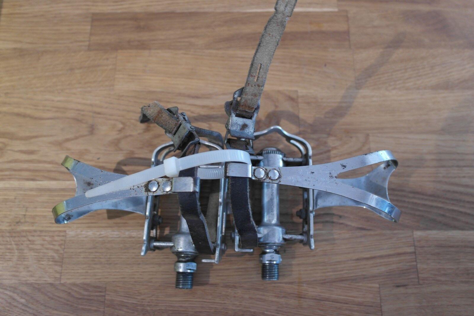 Campagnolo Gran Sport Vintage Eroica pedali C W W W Christophe SPECIAL toe clip 148844