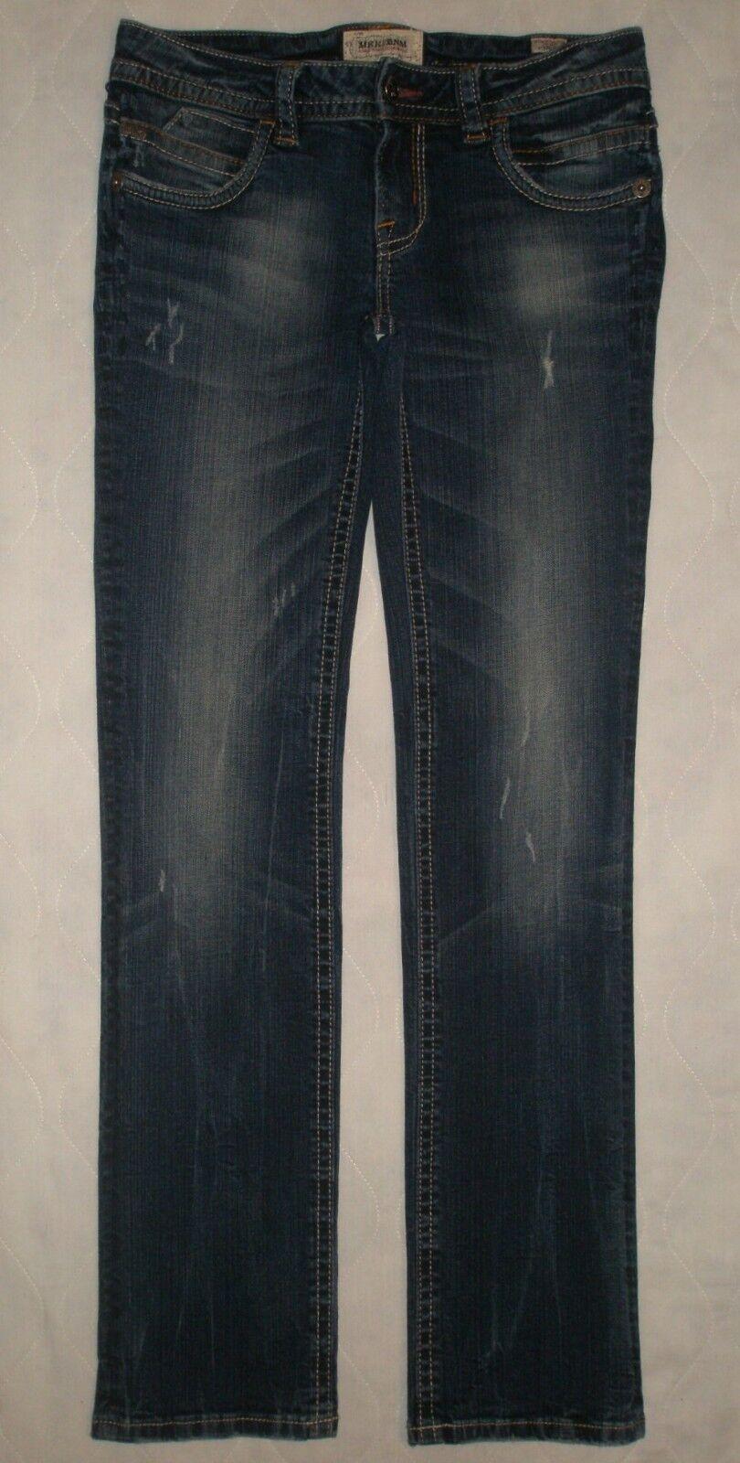 Mek Denim Ulan-Bator Straight Leg Stretch Jeans Womens Size 28 34