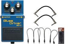 Boss BD-2 Blues Driver Overdrive Guitar Effects Pedal Bundle