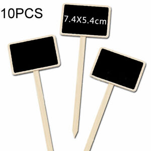 10Pcs-Wooden-Herb-Flower-Plant-Pot-Blackboard-Home-Garden-Kitchen-Labels-HA2