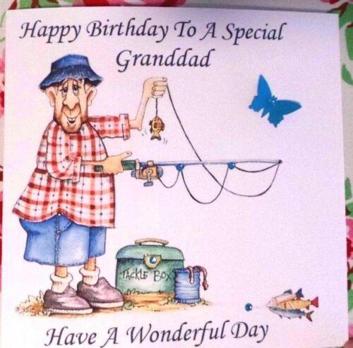PERSONALISED HANDMADE BIRTHDAY CARD DAD GRANDDAD UNCLE BROTHER STEP DAD ETC
