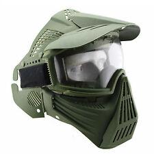 Tactical Airsoft Painball CS War Full Face Gas Goggles Protection Mask Green