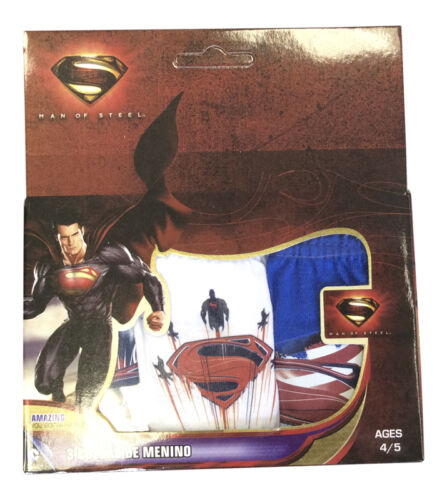 New 3 Pack Boys Man Of Steel Superman 100/% Cotton Briefs Age 2-3 Years