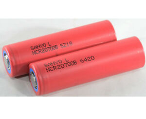 In 2x Sanyo By Panasonic Ncr20700b 3,6-3,7v 4.250 Mah Akku Für Wismec E-zigaretten Duftendes Aroma