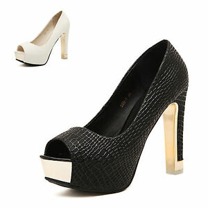Womens-Sexy-Peep-Toe-Platform-Pumps-Stiletto-High-Heels-Sandals-Waterproof-Shoes