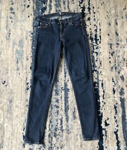 7-Seven-For-All-Mankind-Women-039-s-034-The-Skinny-034-Medium-Blue-Jeans-Size-26-EUC