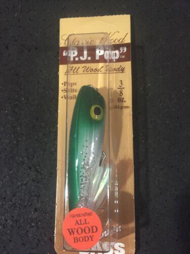 LUHR JENSEN Vintage P.J Pop Wood 3//8 Oz Silver Foil Green Shad Sparkle 997