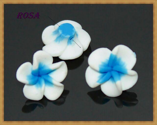 F362-365 Fimo Blume  verschiedene Farbe 15mm/6Stück Perle Polimer Clay