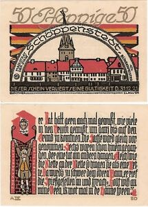 Germany-50-Pfennig-1921-Notgeld-Schoppenstedt-AU-UNC-Banknote-UK-Seller