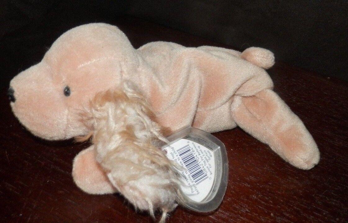 Fetzig ty beanie baby braunen hund 1997 als selten mit fehlern