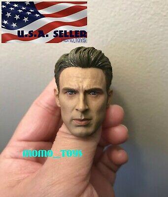 1//6 Chris Evan Captain America 8.0 Head Sculpt custom pour Hot Toys figure ❶ USA ❶