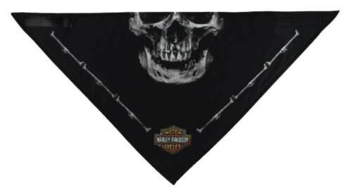 """Harley Davidson Bandana 3 in 1 /""""Deadly Jaw/"""" noir Bar /& Shield Skull"""