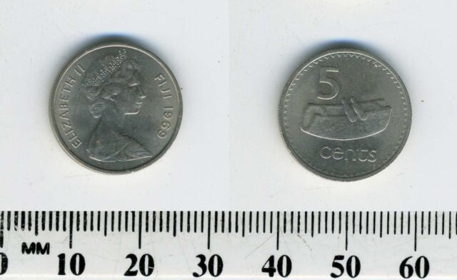 Fiji 1969-20 Cents Copper-Nickel Coin Tabua Queen Elizabeth II