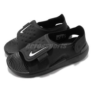 e40816b13 Nike Sunray Adjust 5 GS PS Black White Kid Preschool Sports Sandals ...