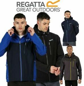 REGATTA-MENS-BIRCHDALE-ISOTEX-10000-WATERPROOF-JACKET-BLACK-BLUE-RMW279