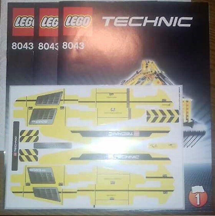 Lego Technic 8043 Original Bauanleitung + Sticker NEU