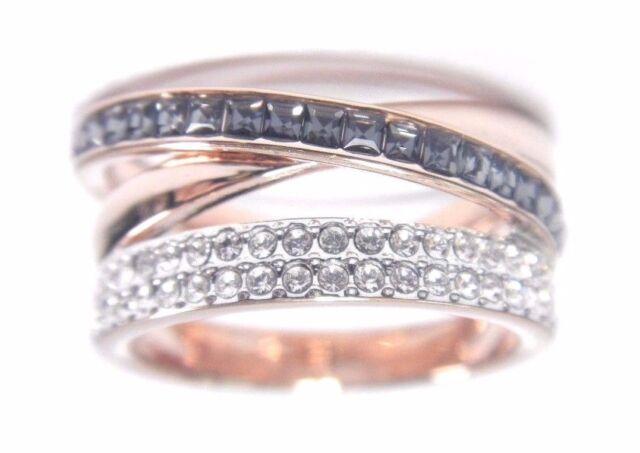 23aedffef Hero Ring Gray Rose Gold Plating Size 8 EUR 58 2017 Swarovski Jewelry  5366566. +. $90.30Brand New