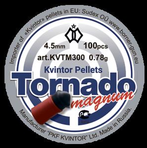 """4,5 mm 0,78 g qty 100 Free P/&P Kvintor Pellets """"Tornado Magnum"""""""