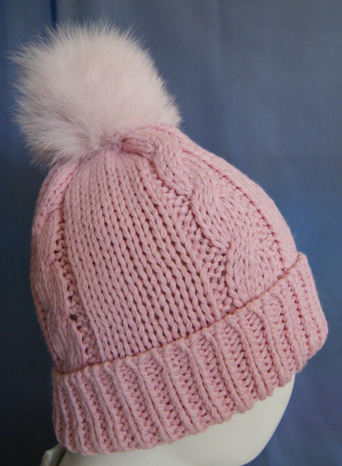 Bommelmütze, Wintermütze, Mütze mit mit mit Echt Fell Bommel Gr. 55-57 | Verkauf Online-Shop  | Elegantes und robustes Menü  | Bequeme Berührung  231653