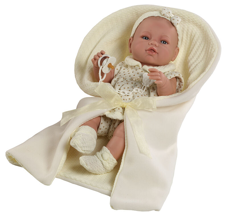 Berbesa - Bebe recién nacido vestido beig toquilla 42 cm cm cm vinilo. Caja (5106) 2d5ed7