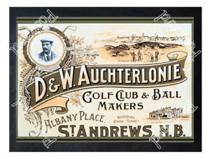 Historic-D-amp-W-Auchterlonie-Golf-Club-and-Ball-makers-Advertising-Postcard