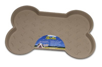 Spill Proof Dog Bowl, Dog Food Tray, Dog Food Mat, Loving Pets Bella Large Tan