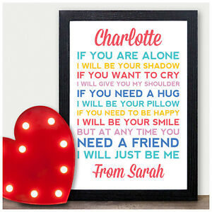 Image Is Loading Friendship Poem Personalised Christmas Birthday Gifts For Best