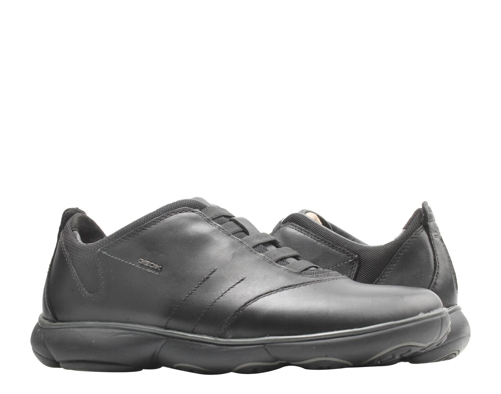Resentimiento vestirse Señor  Geox Men's Nebula U52d7b 00046 C9999 Black Leather Black 7 for sale online  | eBay