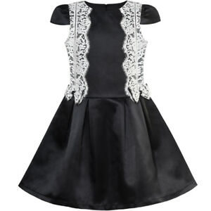 08eace45d9 Image is loading Sunny-Fashion-Girls-Dress-Black-White-Color-Contrast-