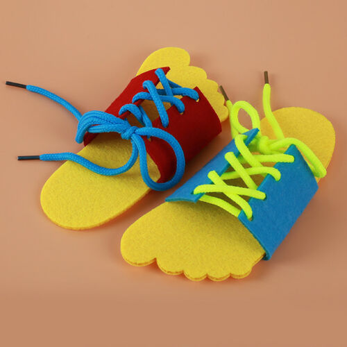 Learn To Lace Tie Shoes Lacing Learning Shoe Children/'s Shoelace GR