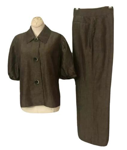 Lafayette 148 New Linen/Wool Blend Pant Suit Size