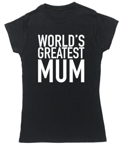 World/'s Greatest Mum t-shirt fitted short sleeve womens