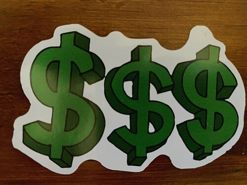 to Cart for $1.75 Each!! Green Dollar Signs Sticker Money Bills Add ANY 4