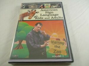American-Sign-Language-for-Kids-amp-Adults-Vol-2-Visiting-the-Zoo-NEW-DVD