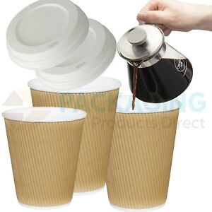 TRIPLE-INSULATED-RIPPLE-WALL-PAPER-CUPS-amp-SIP-THRU-DOME-LIDS-16OZ