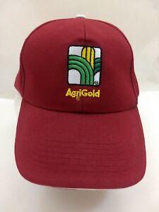 Maroon-AgriGold-Seed-Corn-Farming-Farmers-Snapback-Solid-Hat-Baseball-Cap