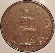 British Large Penny - 1965 - Queen Elizabeth II - $1 Unlimited Shipping
